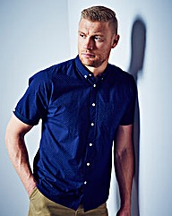 Flintoff by Jacamo Polka Dot Shirt Long