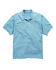Jacamo Aransas Piped Placket Polo Long