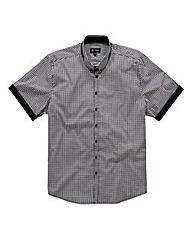Black Label By Jacamo SS Gingham Shirt L