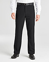 Jacamo Black 5 Pocket Style Trouser 27In