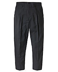 Jacamo Black Single Pleat Trouser 31In
