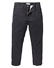 Jacamo Black Stretch Tapered Chino 29in