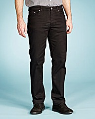 UNION BLUES Black Gaberdine Jeans 33 In