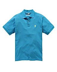 Jacamo Turq Embroidered Polo Long