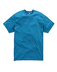 Jacamo Turquoise Dallas Crew Tee Regular