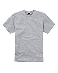 Jacamo Grey Marl Titus Basic V-Tee Long