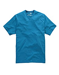 Jacamo Turquoise V Neck T Shirt Regular