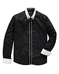 Black Label Chester Tipped Shirt Reg