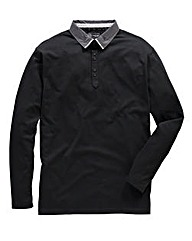 Black Label By Jacamo Lever L/S Polo L