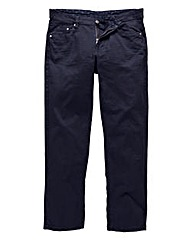 UNION BLUES Navy Gaberdine Jeans 35 Inch