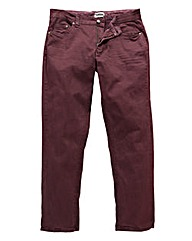 UNION BLUES Wine Gaberdine Jeans 35 Inch