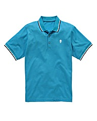 Jacamo Turquoise Tipped Polo Regular