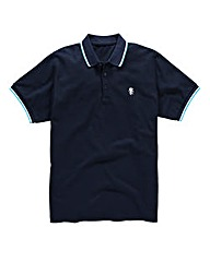 Jacamo Navy Tipped Polo Long
