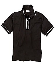 Jacamo Black Piped Polo Shirt Regular