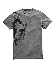 Label J Smoke Girl Oil Wash T-Shirt Long