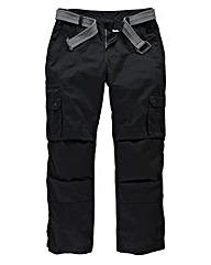 Jacamo Black Carson Cargo Pant Regular