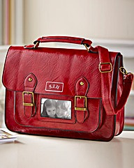 Personalised Red Satchel