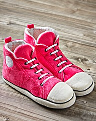 Ladies Pink Hi Top Slippers