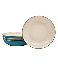 Denby 4 Piece Pasta Bowl Set Azure