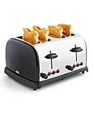 JDW 4 Slice Toaster Black