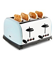 JDW 4 Slice Toaster Soft Blue