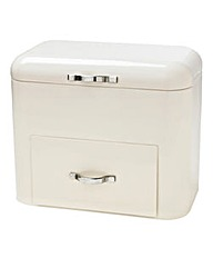 Bread Bin With Drawer Cream