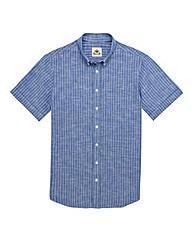 Kayak Tall Striped Cotton Linen Shirt