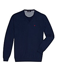 Hackett Mighty Logo V Neck Jumper