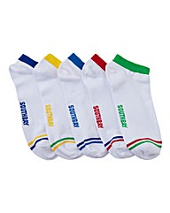 Southbay Pack of 5 Trainer Socks