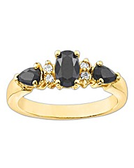 Gold-Plated Sapphire Ring