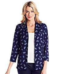 Print Jersey Jacket
