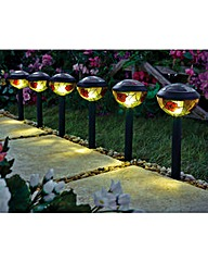 Tiffany Solar Lights Pack of 6