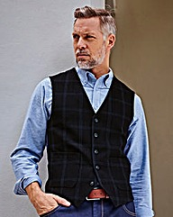 WILLIAMS & BROWN Check Waistcoat