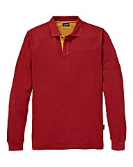 Southbay Unisex L/S Bt Orange Pique Polo