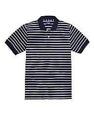 Premier Man Navy Feeder Stripe Polo