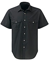Premier Man S/S Black Pilot Shirt