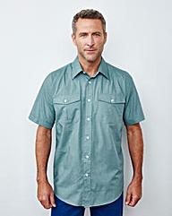 Premier Man S/S Teal Pilot Shirt