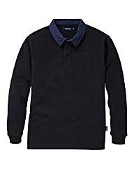 Southbay Unisex Black Fleece Rugby Shirt