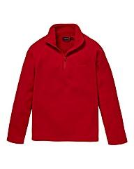 Southbay Unisex Red Zip Neck Fleece