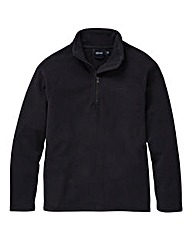 Southbay Unisex Black Zip Neck Fleece