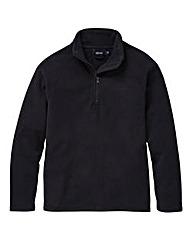 Southbay Unisex Black Zip Neck Fleece