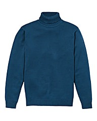 Southbay Unisex Teal Roll Neck Jumper