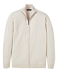 Southbay Unisex Cream Zipper Cardigan