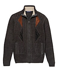 Premier Man Charcoal Zip Cardigan