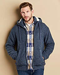 WILLIAMS & BROWN Sherpa Lined Cardigan