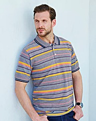 Southbay Unisex S/S Navy Striped Polo