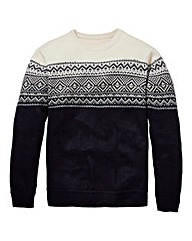 Southbay Unisex Navy Fairisle Sweater