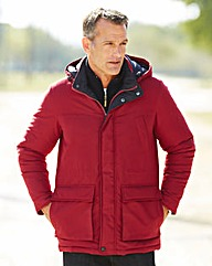 Premier Man Burgundy Car Coat