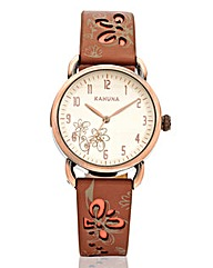 Kahuna Ladies Brown Strap Watch
