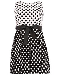 Praslin Polka Dot Flare Dress